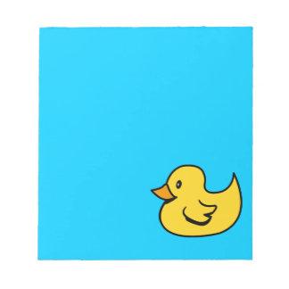 Libreta amarilla del pato bloc de papel