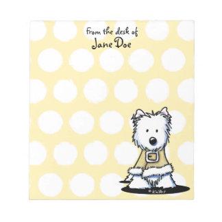Libreta amarilla personalizada de Westie Blocs