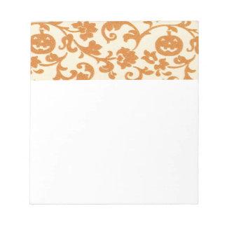 Libreta anaranjada de las vides de calabaza blocs de notas