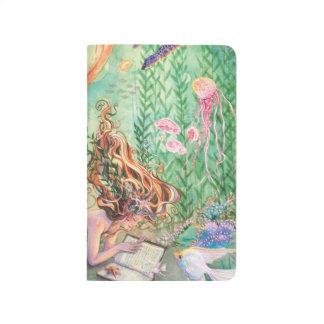 Libreta anaranjada del viaje del diario del bolsil cuadernos grapados