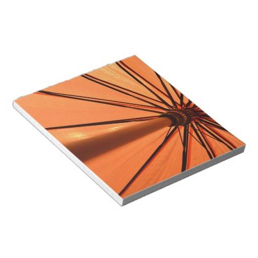 Libreta anaranjada lluviosa blocs de papel
