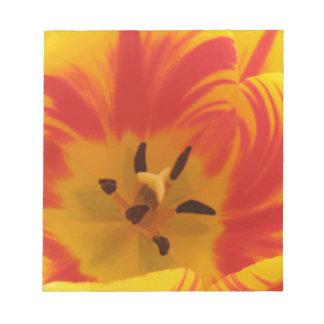 Libreta ardiente del tulipán bloc de notas