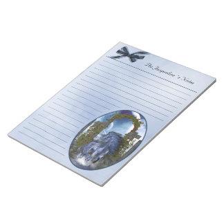 libreta azul 11x8.5 del unicornio 1 bloc de papel