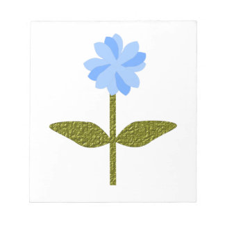 Libreta azul bonita de la flor de la margarita blocs de papel