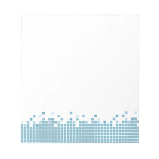 Libreta azul de los pixeles bloc de notas
