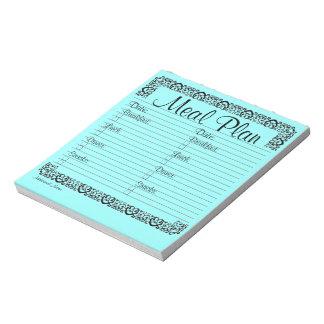 Libreta azul de lujo del plan de la comida blocs