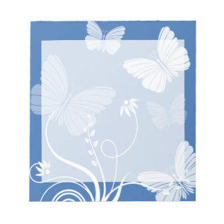 Libreta azul marino de las mariposas libretas para notas