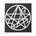 Libreta blanca del sello de Necronomicon Bloc De Notas