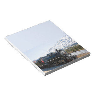 Libreta blanca del tren del paso bloc de notas