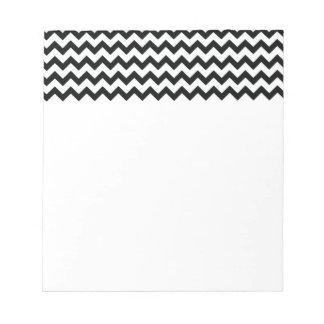 Libreta blanca negra de los galones bloc de papel