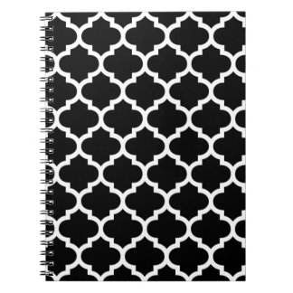 Libreta blanco y negro de Quatrefoil