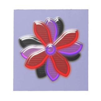 Libreta brillante de la flor de la margarita bloc