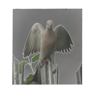 Libreta caida de la paloma del ángel bloc