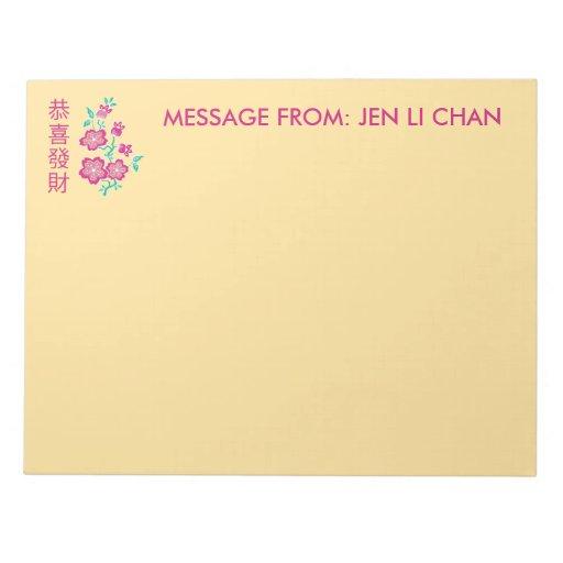 Libreta china del Año Nuevo del batik floral de Sa Libretas Para Notas