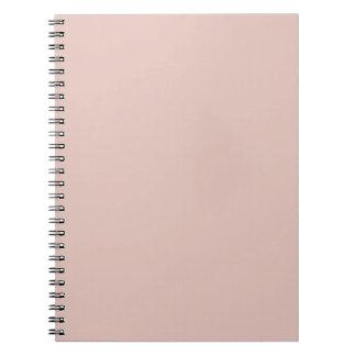 Libreta color de rosa sólida del rosa del humo