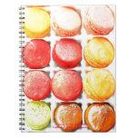 Libreta colorida de Macarons del francés