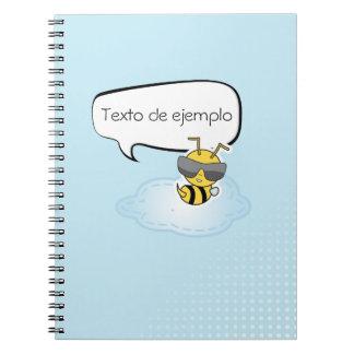 Libreta comic personalizable en azul