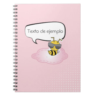 Libreta comic personalizable en rosa