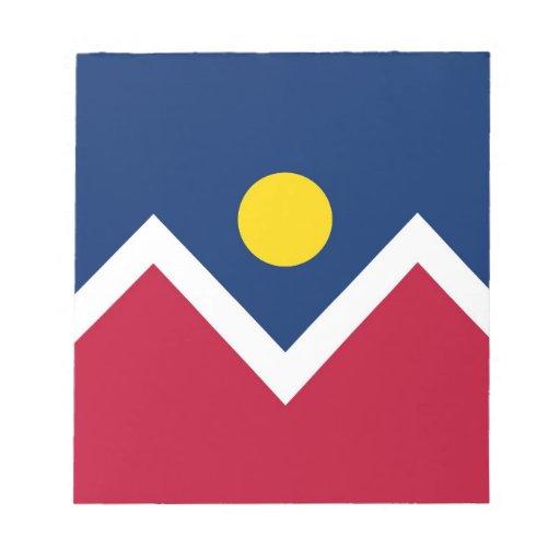 Libreta con la bandera de la ciudad de Denver, est Bloc