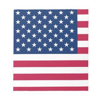 Libreta con la bandera de los Estados Unidos de Bloc