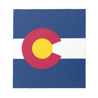 Libreta con la bandera del estado de Colorado Bloc De Notas