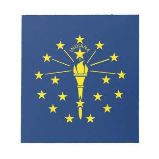 Libreta con la bandera del estado de Indiana Bloc De Notas