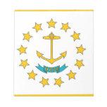 Libreta con la bandera del estado de Rhode Island Blocs De Notas