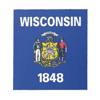 Libreta con la bandera del estado de Wisconsin Bloc De Notas