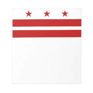 Libreta con la bandera del Washington DC Bloc De Notas