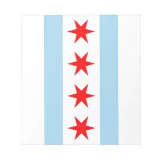 Libreta con la bandera estado de Chicago Illinois Blocs De Papel