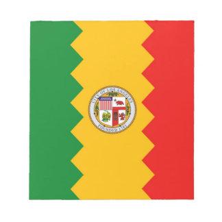 Libreta con la bandera estado de Los Ángeles, Cali Libretas Para Notas