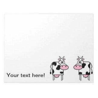 libreta de 2 vacas bloc de notas