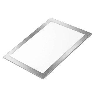 Libreta de aluminio cepillada del efecto de Digita Bloc De Papel