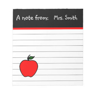 Libreta de Apple del profesor personalizado Blocs De Notas