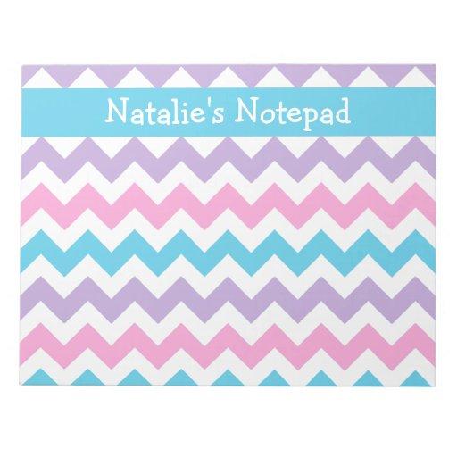 Libreta de encargo, azul, rosa, galones de color d bloc de papel