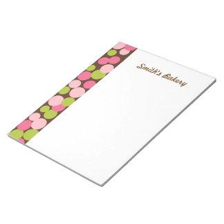 Libreta de encargo de los lunares del caramelo blocs de notas