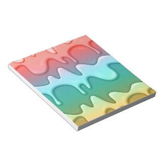 Libreta de fusión del helado libretas para notas