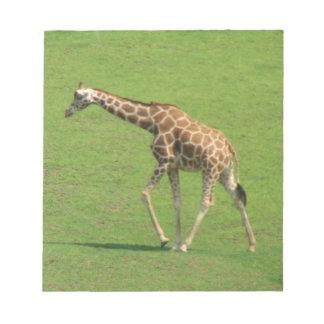 Libreta de itinerancia de la jirafa bloc de notas