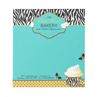 Libreta de la abeja del cumpleaños mini bloc de papel