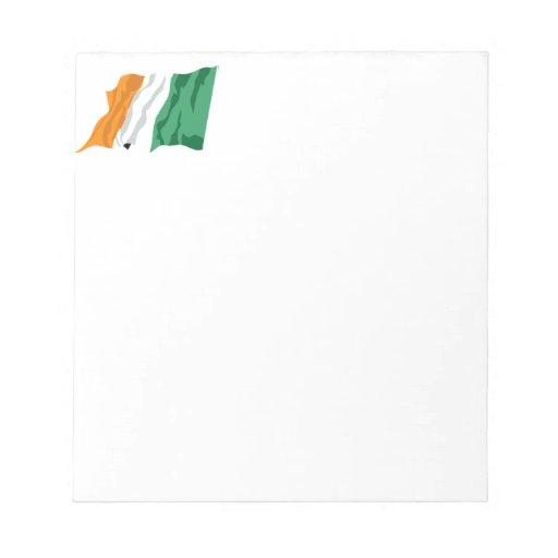 Libreta de la bandera de Irlanda de St Patrick Blocs De Notas