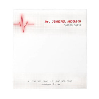 Libreta de la cardiología del latido del corazón d bloc de papel