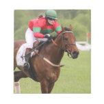 Libreta de la carrera de caballos bloc de notas
