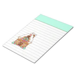 Libreta de la casa de pan de jengibre de la menta blocs de notas