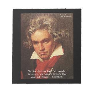 Libreta de la cita del amor del cielo de Beethoven Bloc De Notas