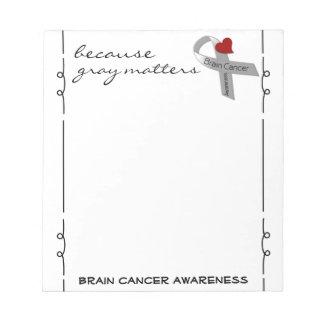 Libreta de la conciencia del cáncer de cerebro bloc de notas