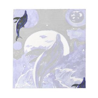 Libreta de la danza del delfín bloc de notas