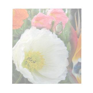 Libreta de la flor blanca blocs de papel
