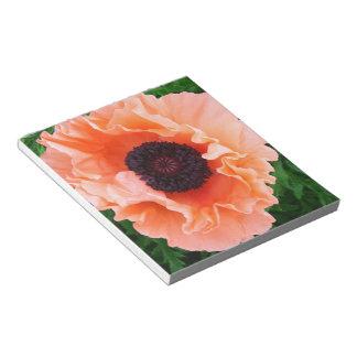 Libreta de la flor de la amapola bloc de notas