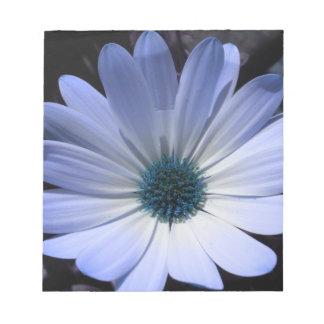 Libreta de la flor de la margarita azul bloc de papel