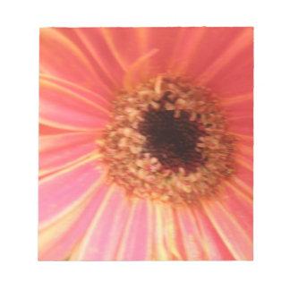 Libreta de la flor de la margarita del Gerbera Bloc De Papel